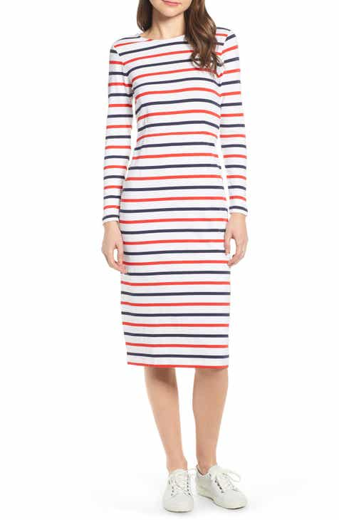 e039373b0ee J.Crew Stripe Long Sleeve Cotton Dress (Regular   Petite)