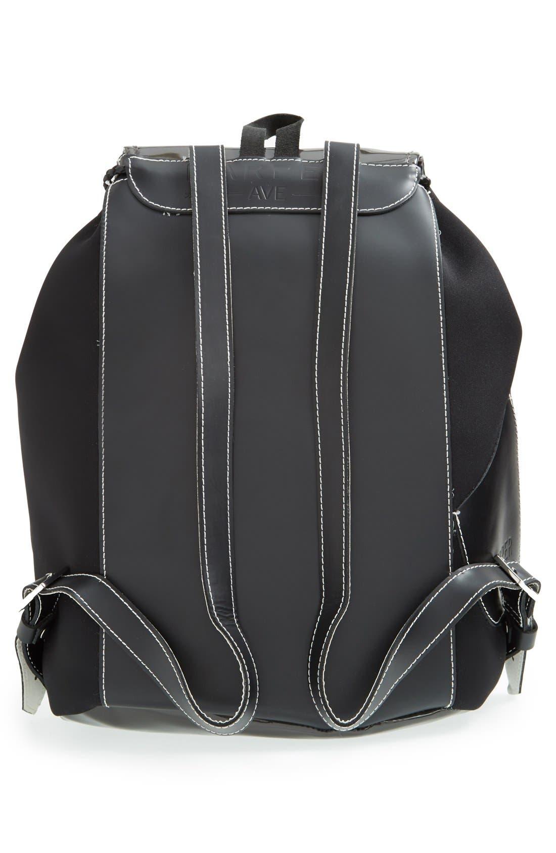Alternate Image 4  - Harper Ave 'Philip' Neoprene & Faux Patent Leather Backpack