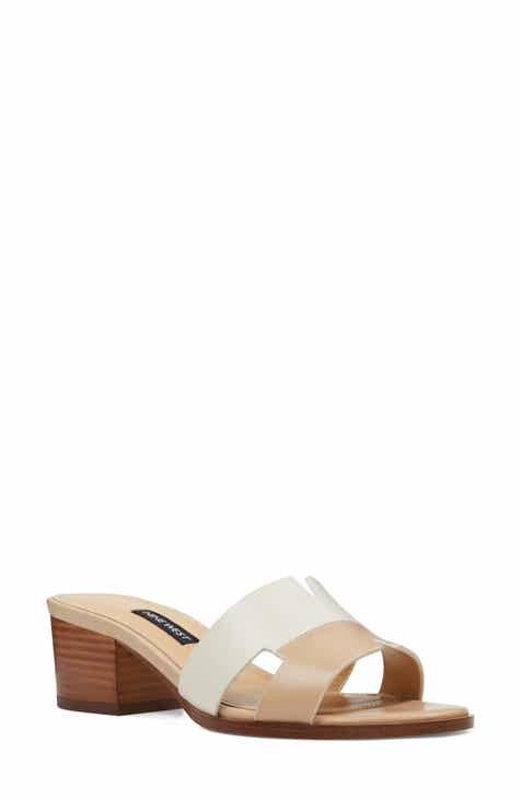 cc0c7b8226bc Nine West Aubrey Cutout Slide Sandal (Women)