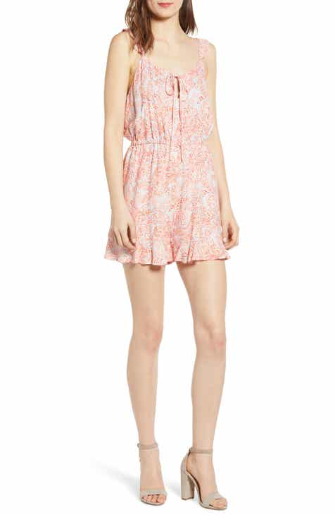 City Chic Strappy Floral Romper (Plus Size) by CITY CHIC