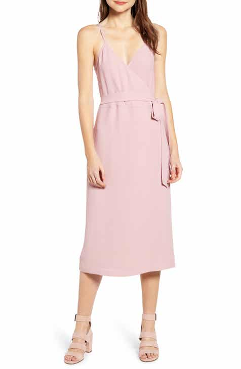 06105b0bd2 Chelsea28 Crepe Wrap Midi Dress