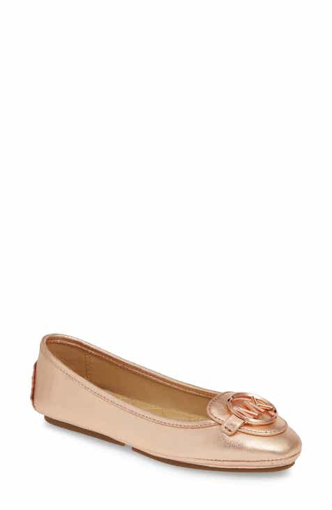 18cf717de5ee6f MICHAEL Michael Kors Lillie Logo Ballet Flat (Women)