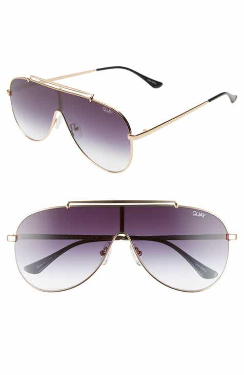 8a0f8c4159 Quay Australia x JLO El Dinero 55mm Aviator Shield Sunglasses