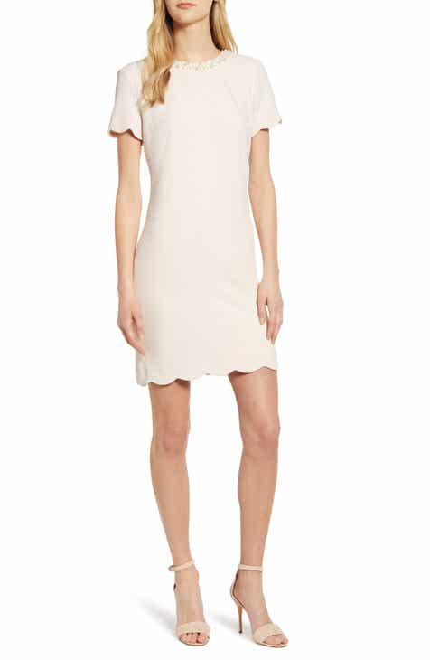 eb1561c60f9 Karl Lagerfeld Paris Faux Pearl Detail Sheath Dress
