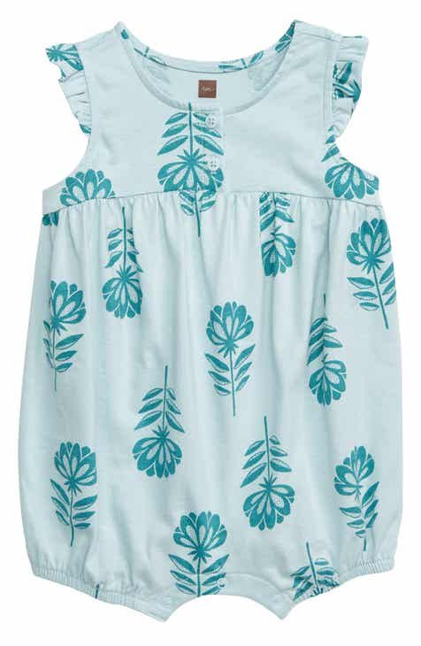 f2b58031e9c6 Tea Collection Floral Ruffle Sleeve Romper (Baby)