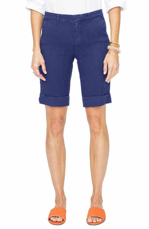 f41ac66f17 NYDJ Stretch Linen Blend Bermuda Shorts