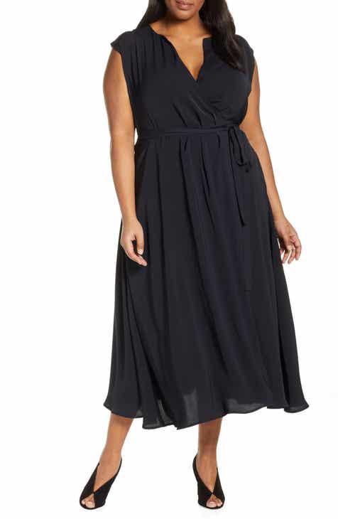 20f3c3d2e7e Jason Wu x ELOQUII Surplice Midi Wrap Dress (Plus Size)