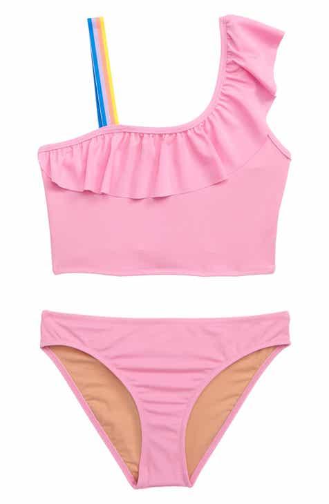 1ec0784203476 crewcuts by J.Crew Ruffled One-Shoulder Two-Piece Swimsuit (Toddler Girls, Little  Girls & Big Girls)