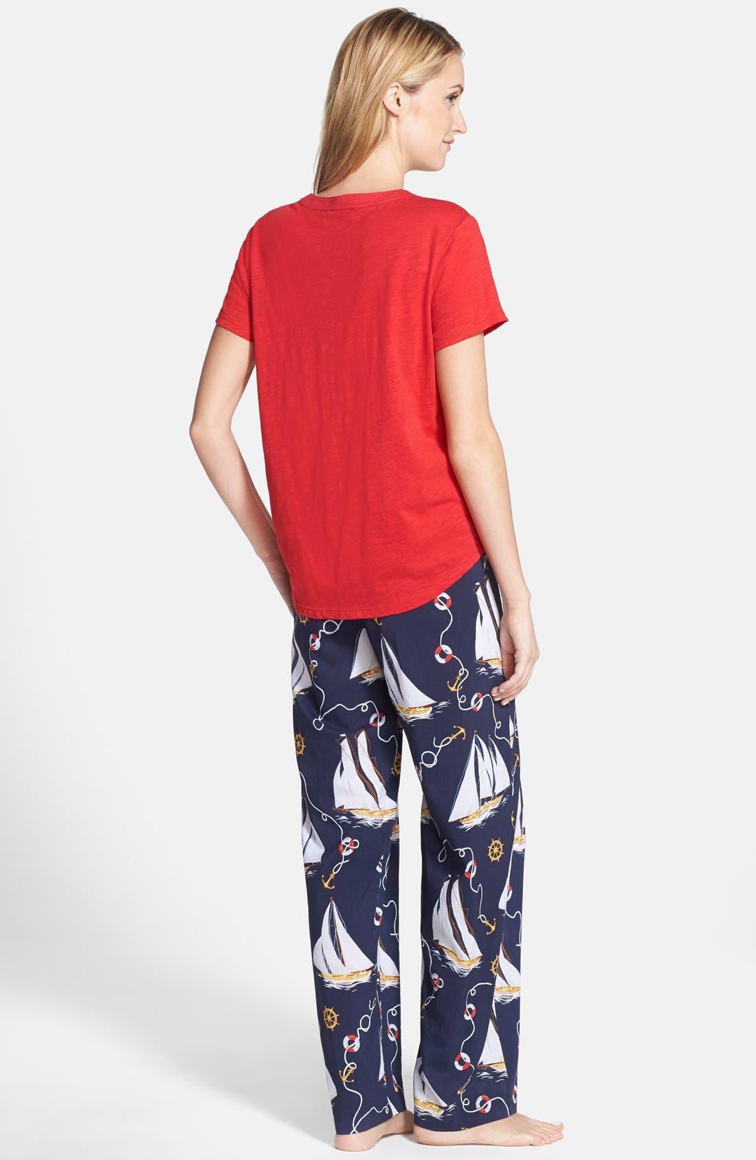 Alternate Image 2  - Lauren Ralph Lauren Short Sleeve Pajamas