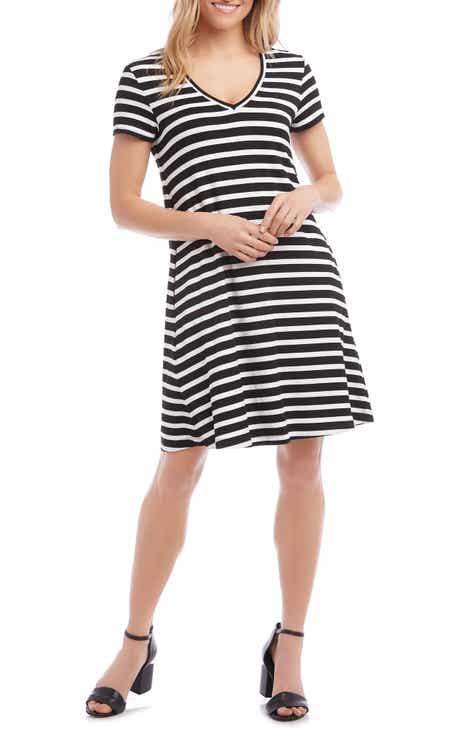 Karen Kane Quinn Stripe Jersey Shift Dress