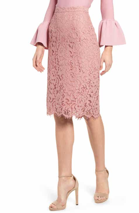 Rachel Parcell Lace Pencil Skirt (Nordstrom Exclusive) By RACHEL PARCELL by RACHEL PARCELL No Copoun