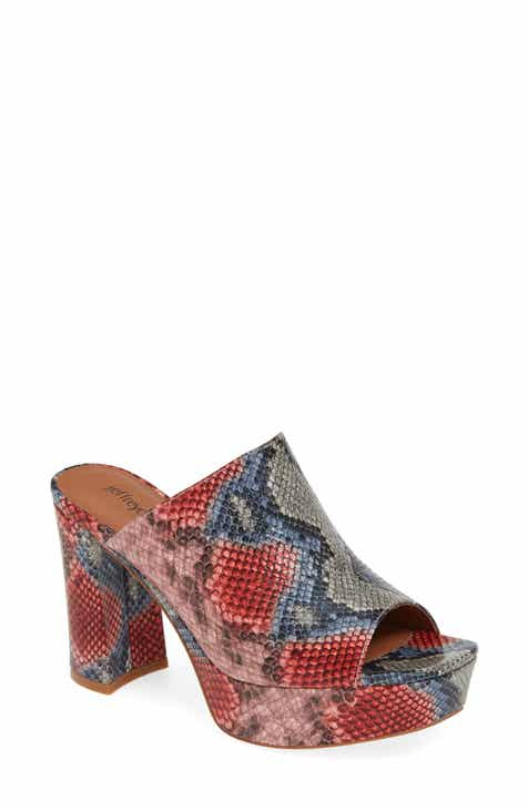 b1cd53b512f1 Jeffrey Campbell Pilar 2 Platform Slide Sandal (Women)
