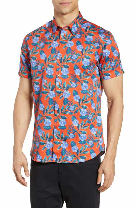 3345bdf80 Ted Baker London Plataps Slim Fit Floral Woven Shirt