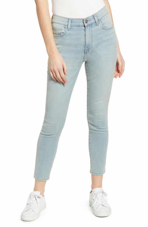 03b219f961 Current Elliott The High Waist Stiletto Skinny Jeans (Blue Wave)