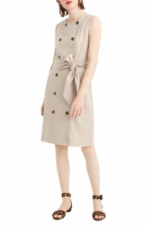 07252c07c00 J.Crew Double Breasted Linen Blend Sheath Dress