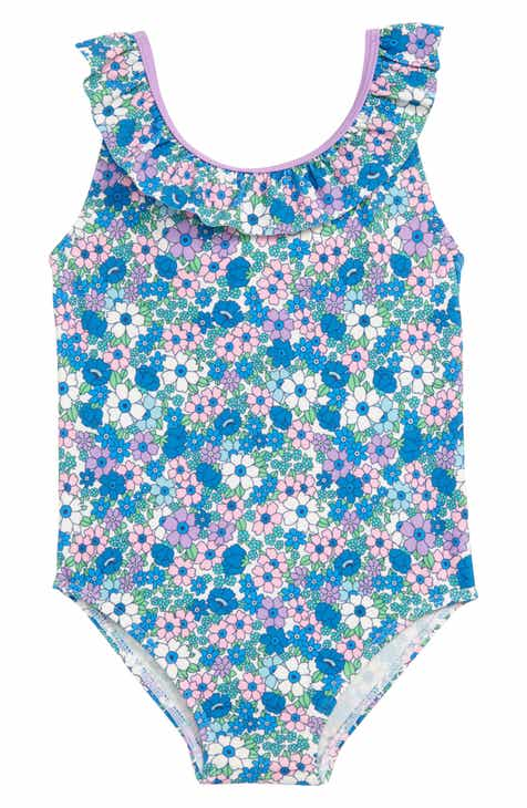 f2c8dc1fd6a96 Mini Boden Bow One-Piece Swimsuit (Toddler Girls)