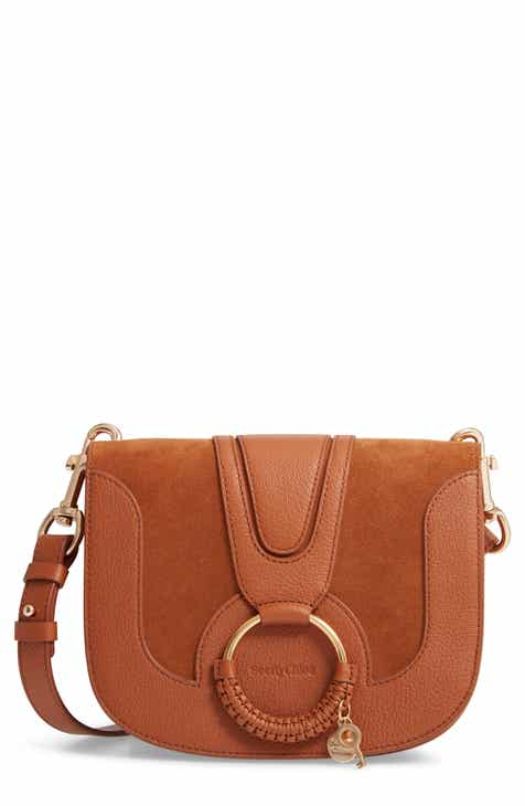 9d280a289c63 See by Chloé Hana Suede   Leather Shoulder Bag