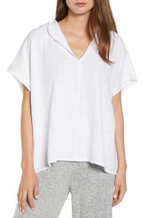 Lou & Grey Short Sleeve Hoodie By LOU AND GREY by LOU AND GREY