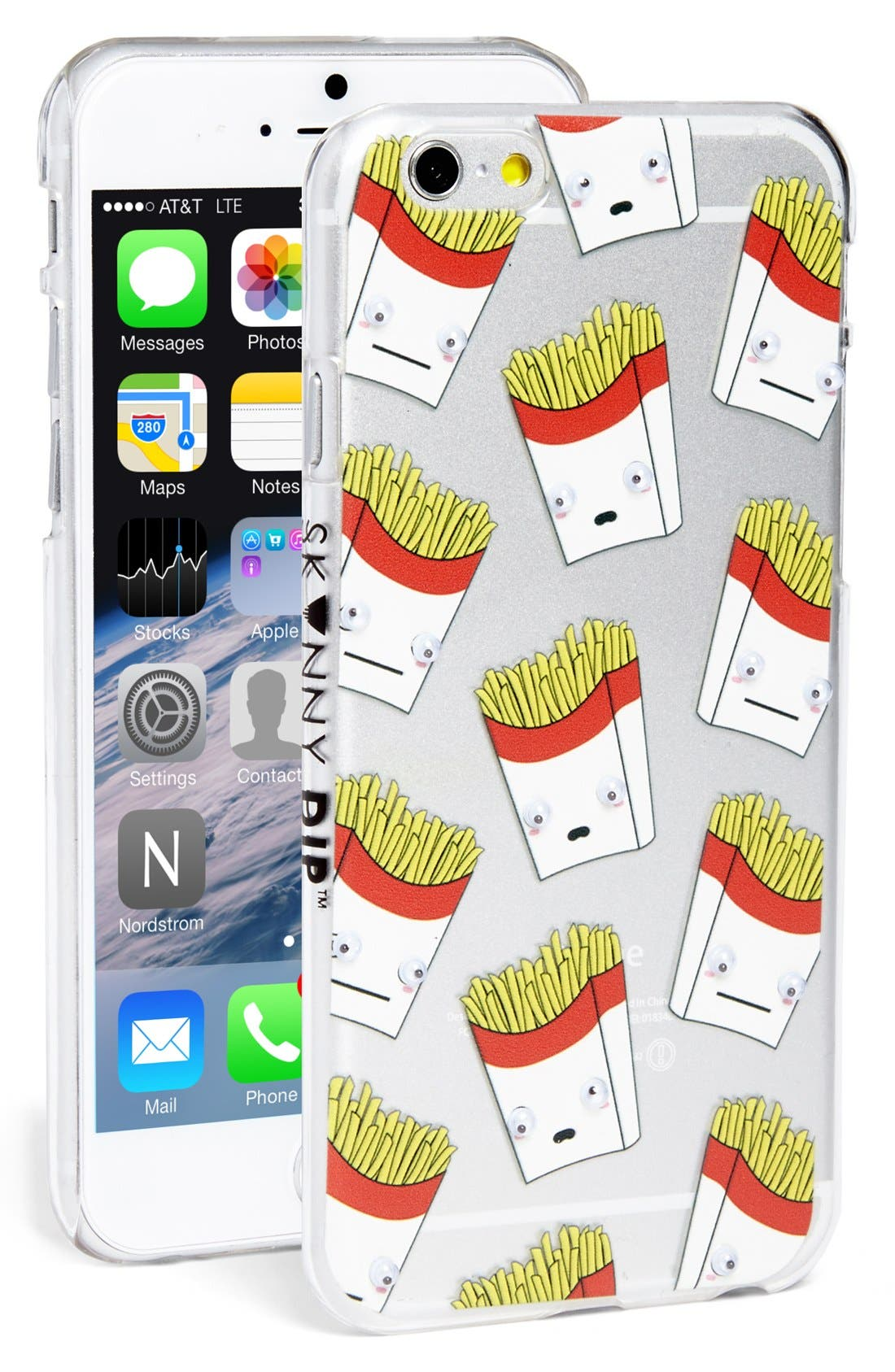 Alternate Image 1 Selected - Skinnydip 'French Fries' Googly Eyes iPhone 6 & 6s Case