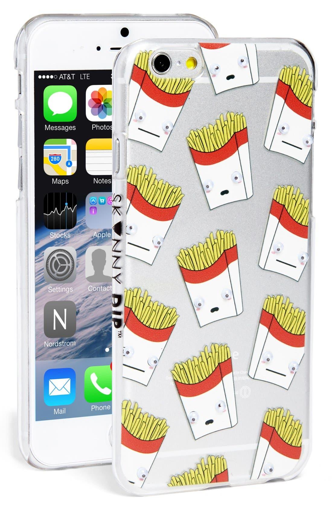 Main Image - Skinnydip 'French Fries' Googly Eyes iPhone 6 & 6s Case