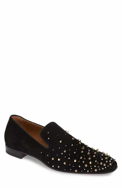 Christian Louboutin Milkylion Studded Venetian Loafer (Men)