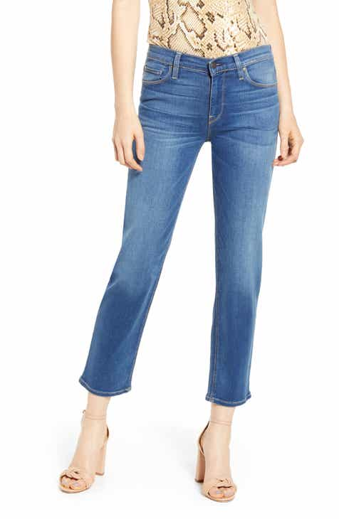 Good American Good Waist Side Triangle Crop Skinny Jeans (Blue 160) (Regular & Plus) by GOOD AMERICAN