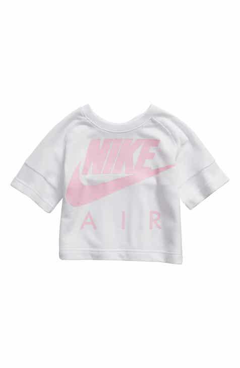 26d5266d795a Nike Air Crew Crop Tee (Toddler Girls   Little Girls)