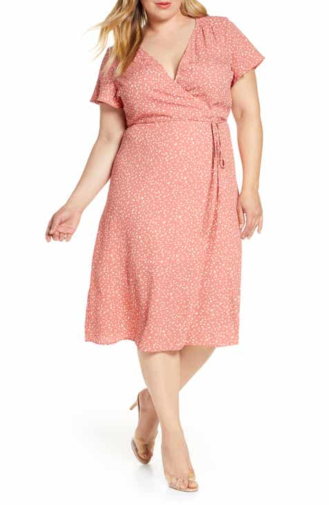 f2e98500db Leith Midi Wrap Dress (Plus Size)