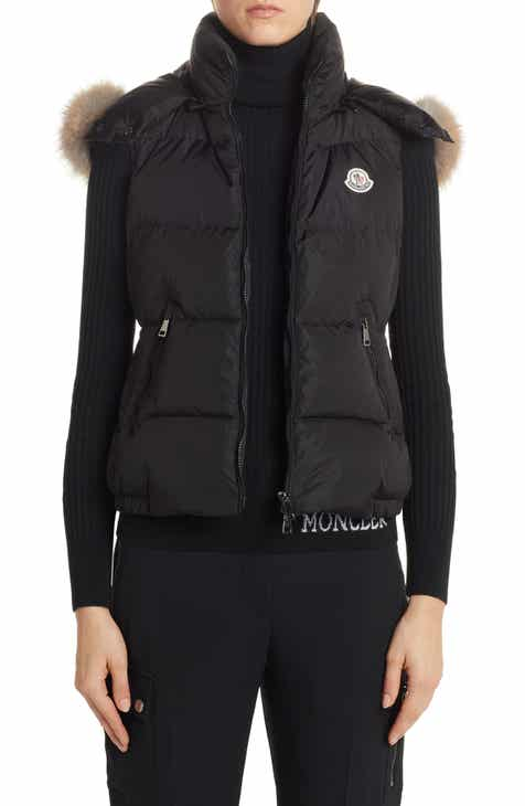 7fe798bf Moncler Gallinule Quilted Down Vest with Detachable Genuine Fox Fur Trim  Hood