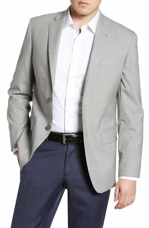 4770b4b3d4b01 Nordstrom Men s Shop Tech-Smart Trim Fit Stretch Wool Travel Sport Coat