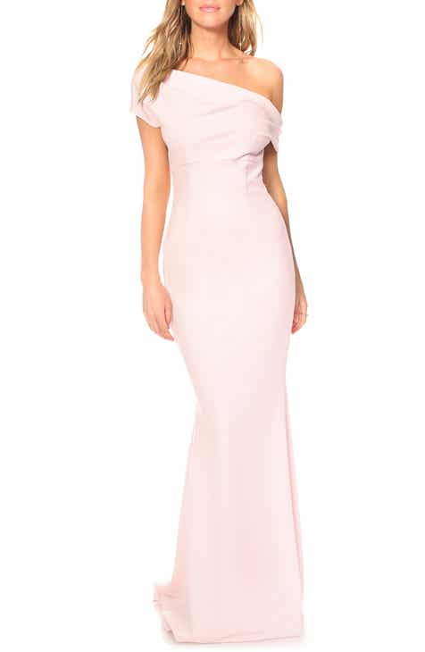 a9a70cba8c5 Katie May Hannah One-Shoulder Crepe Trumpet Gown