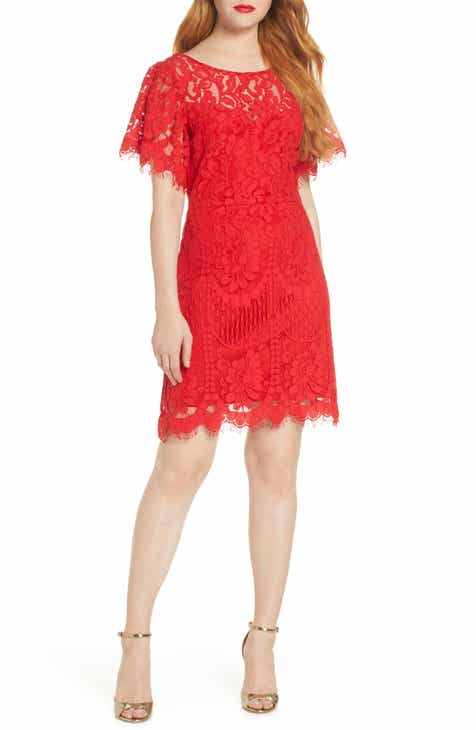 Lulus Pearson Short Sleeve Lace Cocktail Dress