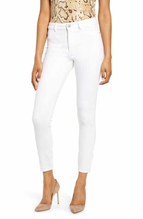 a48a1a96725f DL1961 Farrow High Waist Ankle Skinny Jeans (Porcelain) (Plus Size)