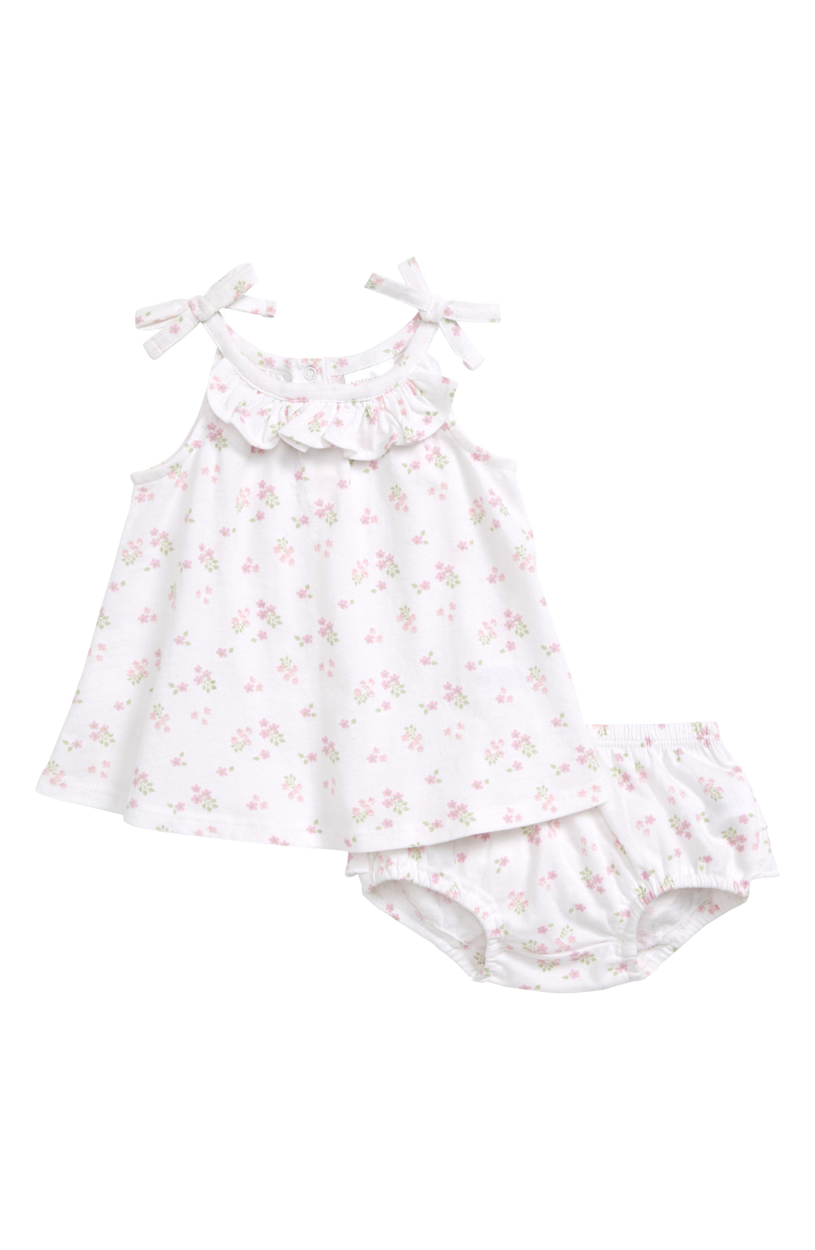 Baby Girls White Clothing Dresses Bodysuits Footies