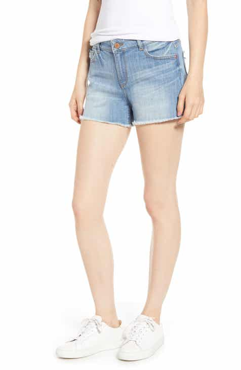 rag & bone Maya High Waist Ripped Denim Cutoff Shorts (Tabby with Holes) by RAG AND BONE