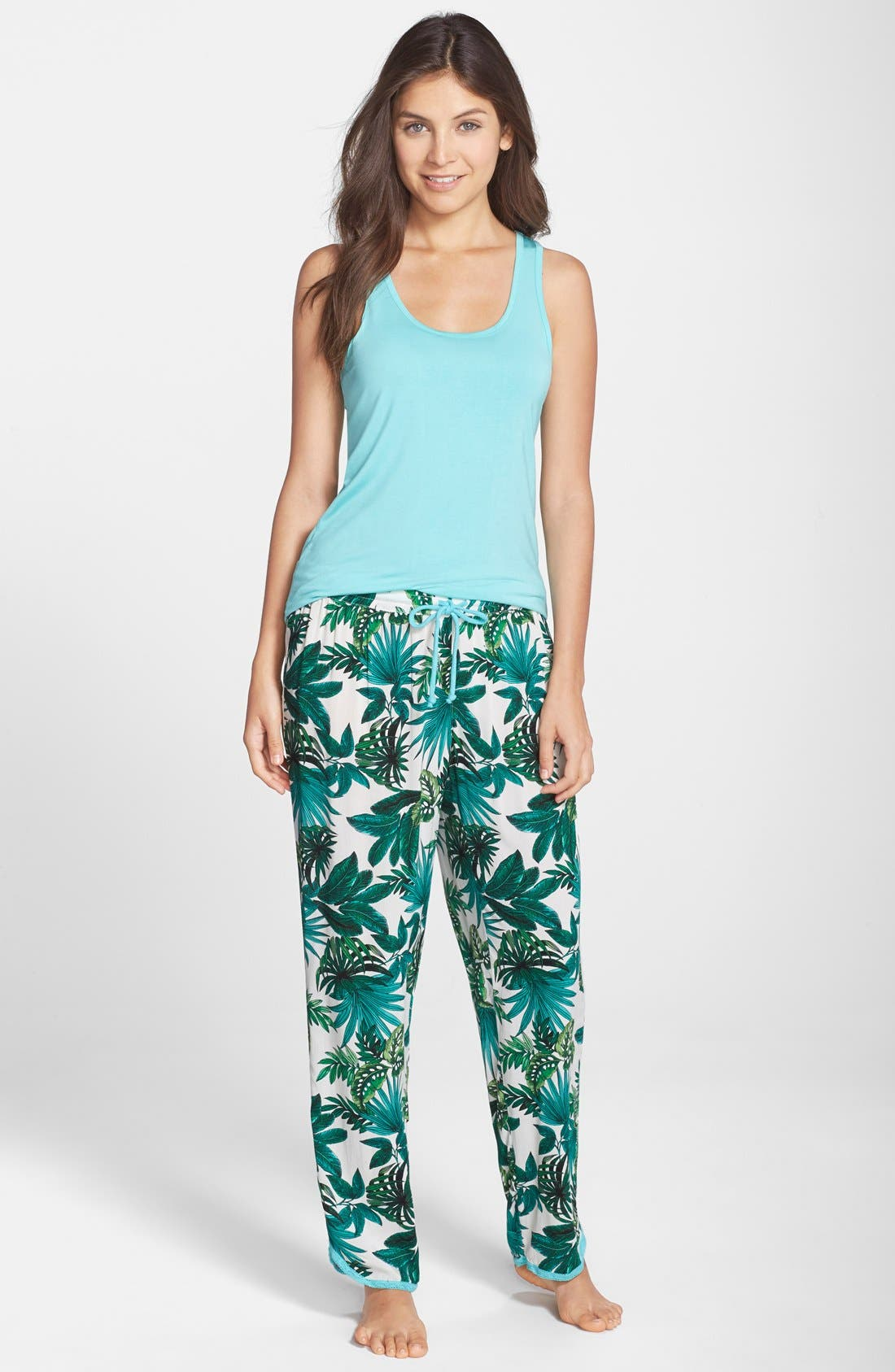 Alternate Image 3  - PJ Salvage 'Challe' Lace Trim Woven Lounge Pants (Nordstrom Exclusive)