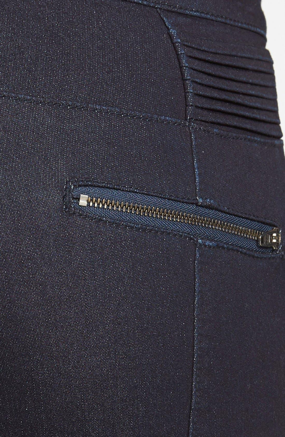 Alternate Image 3  - Standards & Practices 'Sachi' Moto Skinny Jeans (Blue) (Online Only)