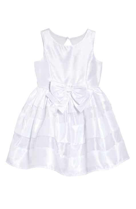 26ea73d6b9cce Zunie Shadow Stripe Bow Dress (Toddler Girls   Little Girls)