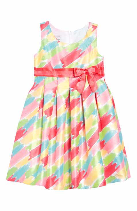 12515ecbf52 Iris   Ivy Paintstroke Print Shantung Party Dress (Little Girls)