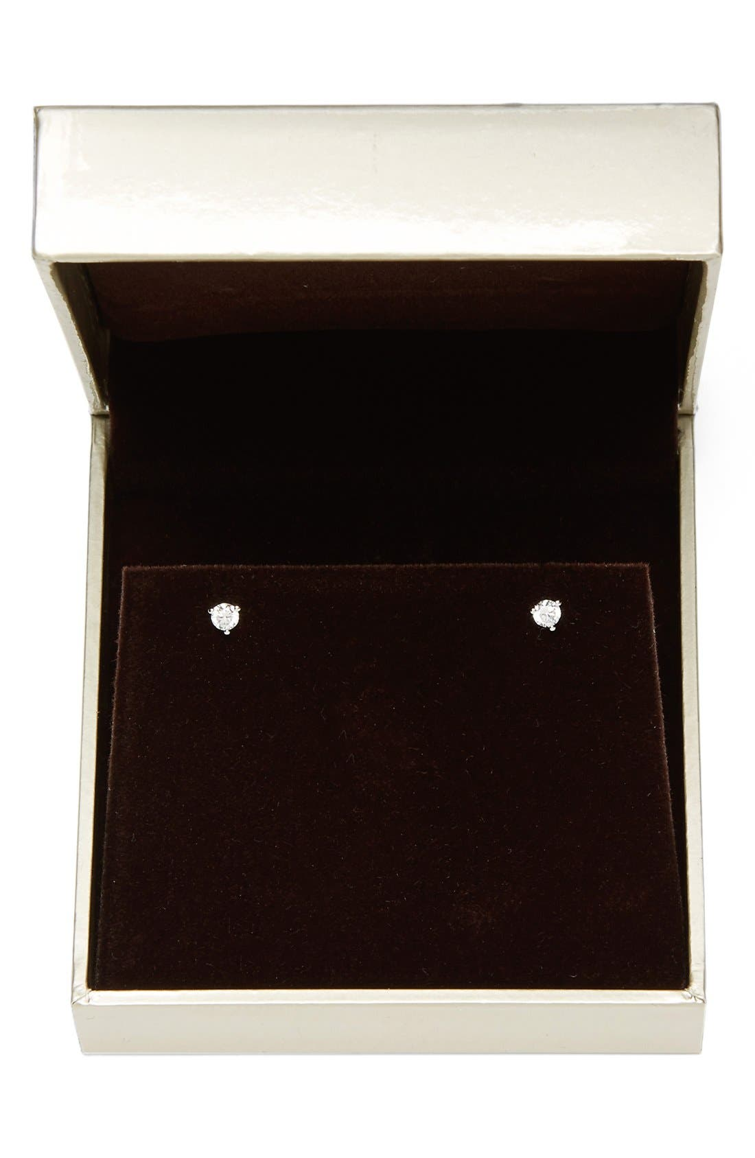 Alternate Image 3  - Nordstrom Precious Metal Plated 0.25ct tw Cubic Zirconia Stud Earrings