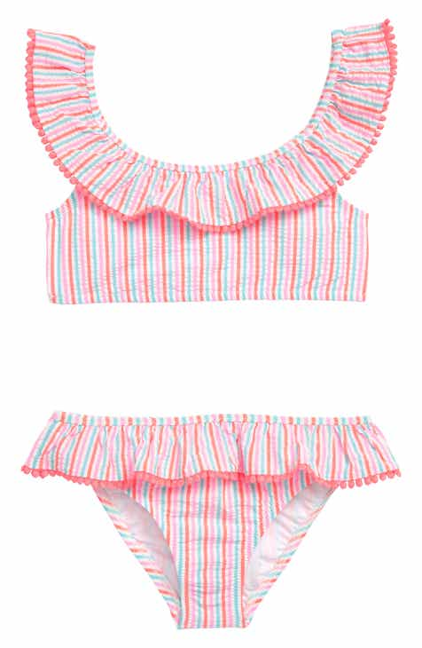 c6d303ac69c crewcuts by J.Crew Ruffle Seersucker Two-Piece Swimsuit (Toddler Girls
