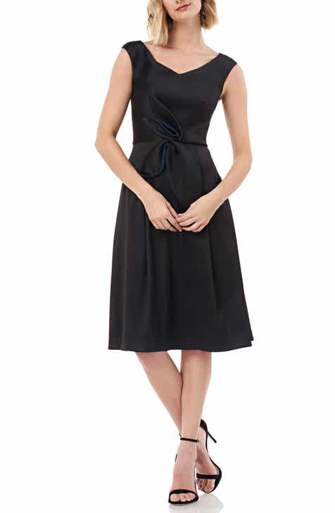 6d1204615a8f0 Kay Unger Sleeveless Stretch Mikado Fit & Flare Dress