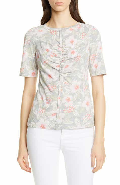 Rebecca Taylor Kamea Floral Cotton Jersey Top