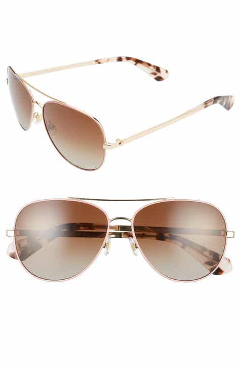 77768e5b62aba kate spade new york avaline 2 58mm polarized aviator sunglasses