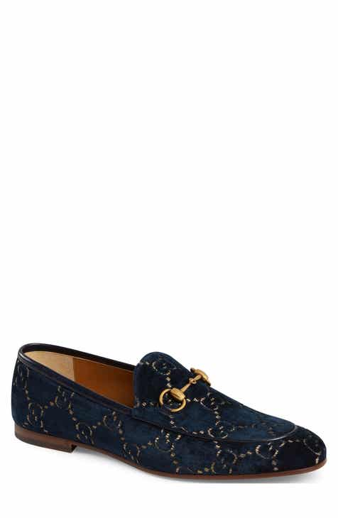 7a6e19e79a Gucci Jordaan GG Velvet Loafer (Men)