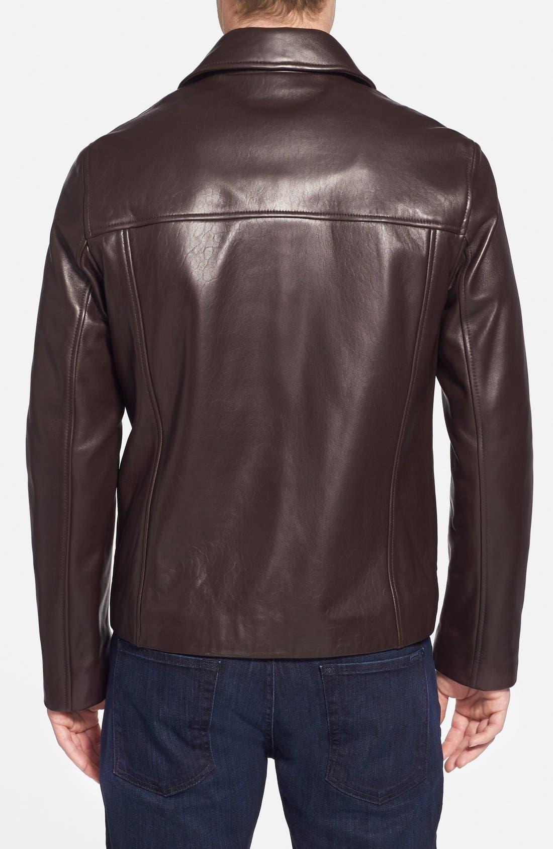 Lambskin Leather Jacket,                             Alternate thumbnail 2, color,                             Java