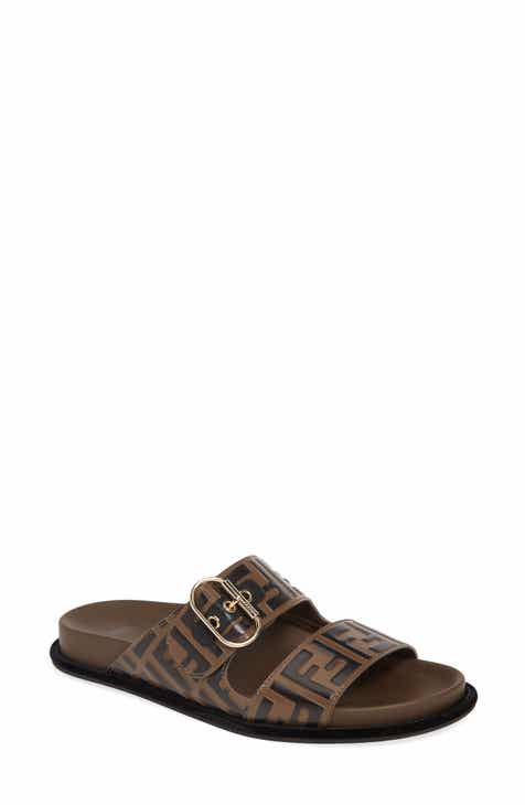 98ae8d9d377b9 Fendi FF Buckle Slide Sandal (Women)
