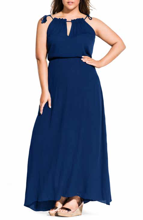 cbc8ace92ea City Chic Tassel Shoulder Maxi Dress (Plus Size)