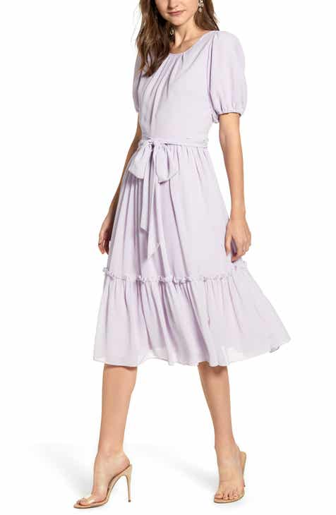 300c0b7157b Rachel Parcell Gingham Puff Sleeve Dress (Nordstrom Exclusive)