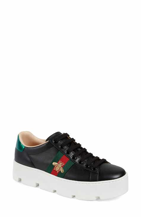 cba373837 Gucci New Ace Platform Sneaker (Women)